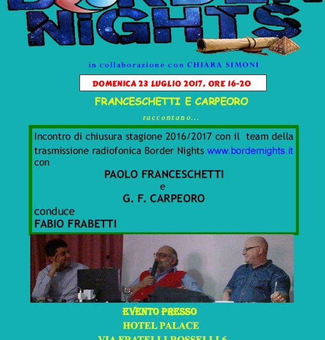 BN LIVE – Domenica prossima, ore 16, CIVITANOVA MARCHE: CARPEORO e PAOLO FRANCESCHETTI